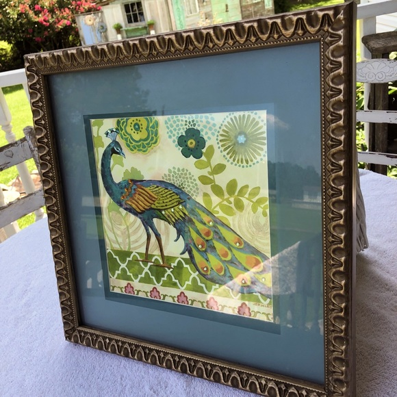Peacock Art Artwork Bed Bath and Beyond Framed